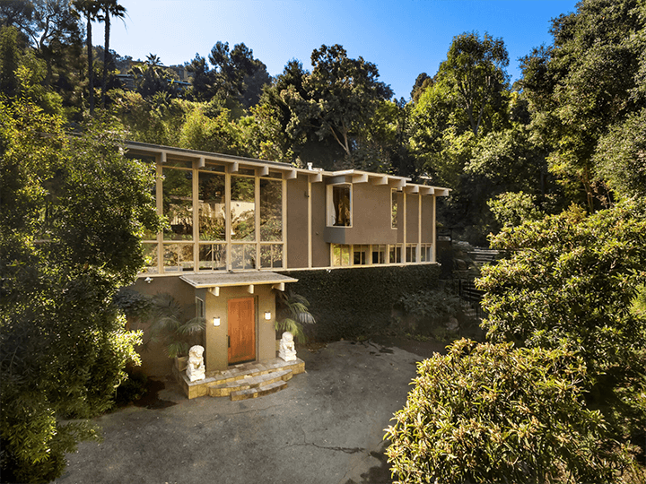 Mid century home for sale in the Hollywood Hills