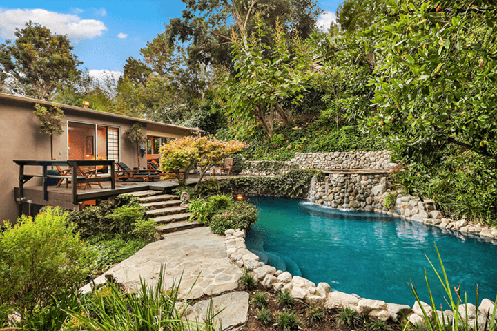 Mid-century house for sale in the Hollywood Hills