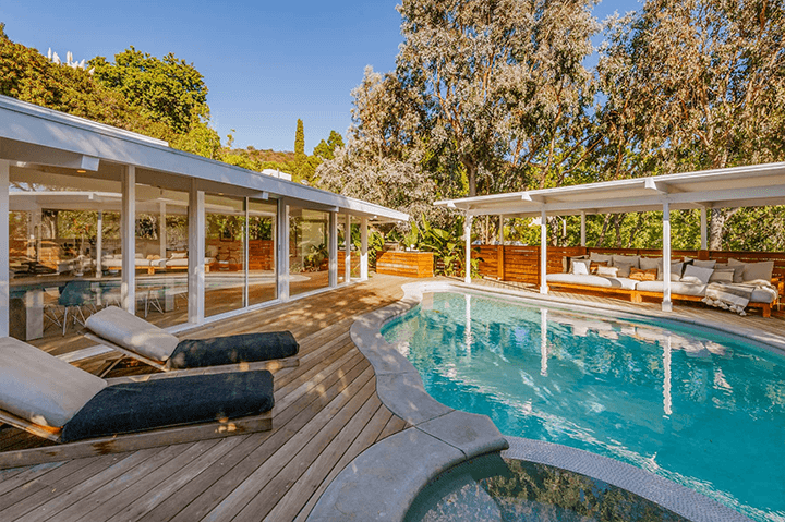 Richard Dorman designed midcentury for sale in the Hollywood Hills