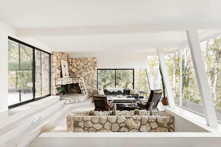 Mid century dwelling designed by Harry Greene for sale in the Hollywood Hills