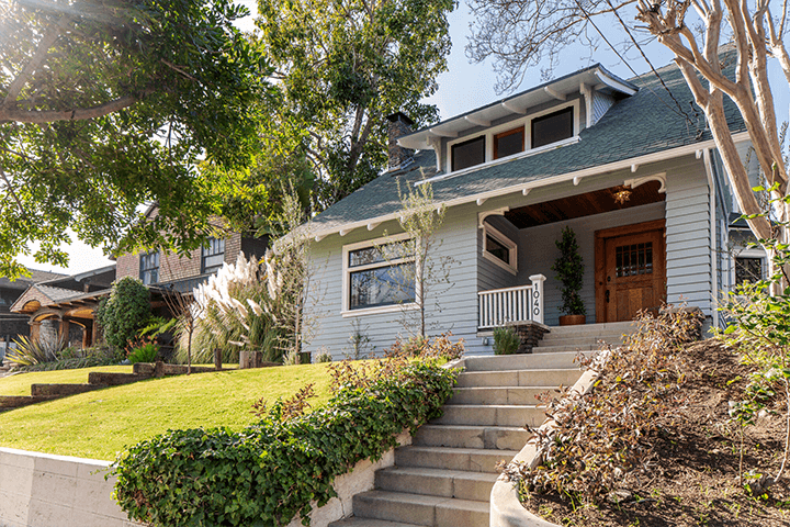 Restored Angelino Heights CA bungalow for sale