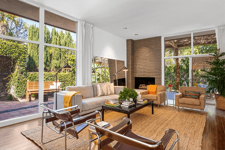 Hollywood Hills CA mid-century home for sale