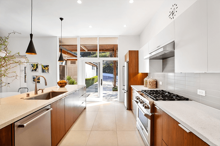 Hollywood Hills mid century house for sale