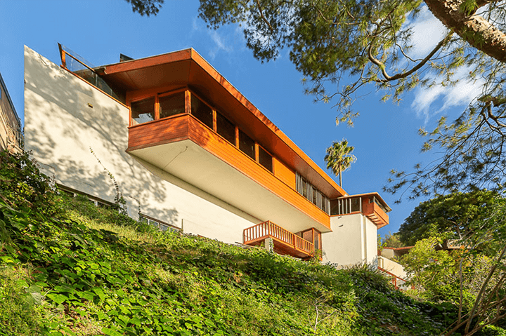 John Lautner's personal residence for sale in Silver Lake